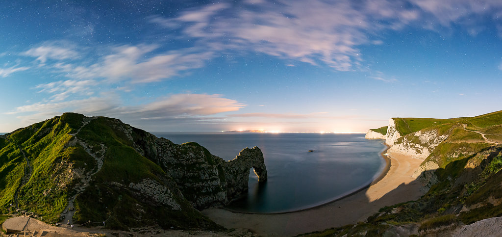 Durdle Door in the moonlight
