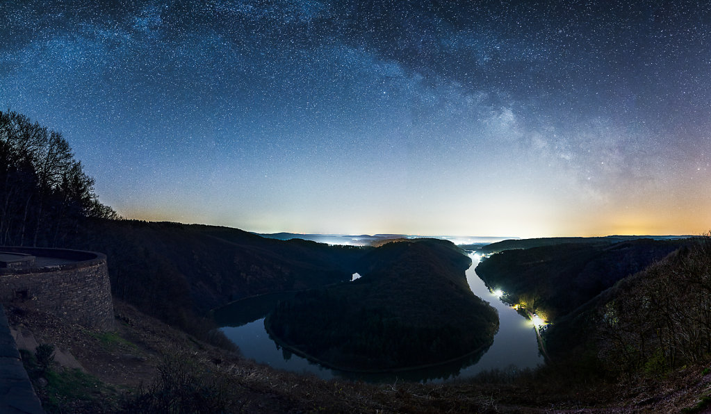 Milky Way over Saarschleife